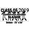 2019 BLACK GRADUATION DELUXE BANNER PARTY SUPPLIES
