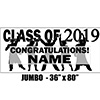 2019 BLACK GRADUATION JUMBO BANNER PARTY SUPPLIES