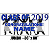 2019 BLUE GRADUATION JUMBO BANNER PARTY SUPPLIES