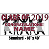 2019 BURGUNDY GRADUATION BANNER PARTY SUPPLIES