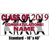 2019 CRIMSON-RED GRADUATION BANNER PARTY SUPPLIES