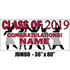 2019 CRIMSON-RED GRADUATION JUMBO BANNER PARTY SUPPLIES