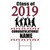2019 GRADUATION CRIMSON-RED YARD SIGN PARTY SUPPLIES