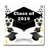 2019 GRADUATION BLACK COASTER PARTY SUPPLIES