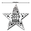 2019 GRADUATION BLACK STAR DECORATION PARTY SUPPLIES