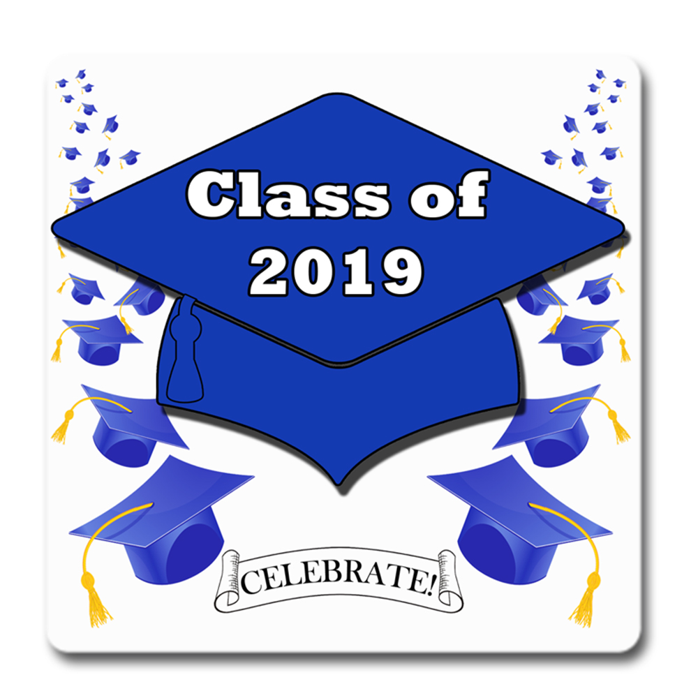 Click for larger picture of 2019 GRADUATION BLUE COASTER PARTY SUPPLIES