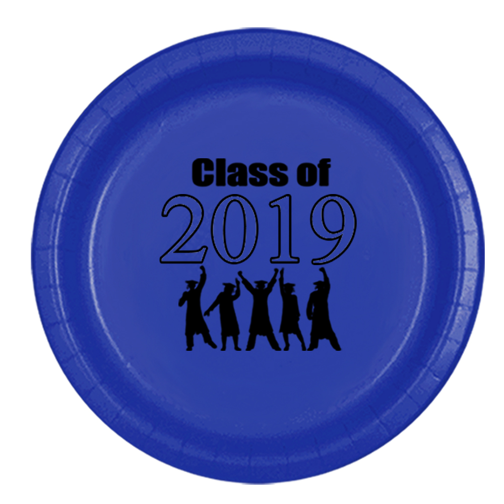 Click for larger picture of 2019 GRADUATION BLUE DINNER PLATE PARTY SUPPLIES