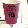 2019 GRADUATION BURGUNDY CUP PARTY SUPPLIES