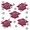 2019 GRADUATION BURGUNDY DECO FETTI PARTY SUPPLIES