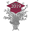 2019 GRADUATION BURGUNDY CENTERPIECE PARTY SUPPLIES