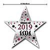 2019 GRADUATION BURGUNDY STAR DECORATION PARTY SUPPLIES