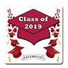 2019 GRADUATION CRIMSON-RED COASTER PARTY SUPPLIES