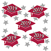2019 GRADUATION CRIMSON-RED DECO FETTI PARTY SUPPLIES