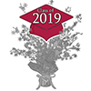 2019 GRADUATION CRIMSON-RED CENTERPIECE PARTY SUPPLIES