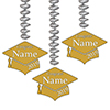 2019 GRADUATION CUSTOM GOLD DANGLER PARTY SUPPLIES