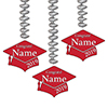 2019 GRADUATION CUSTOM RED DANGLER PARTY SUPPLIES