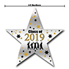 2019 GRADUATION GOLD STAR DECORATION PARTY SUPPLIES