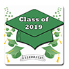 2019 GRADUATION GREEN COASTER PARTY SUPPLIES