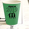 2019 GRADUATION GREEN CUP PARTY SUPPLIES