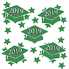 2019 GRADUATION GREEN DECO FETTI PARTY SUPPLIES