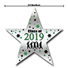 2019 GRADUATION GREEN STAR DECORATION PARTY SUPPLIES