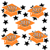 2019 GRADUATION ORANGE DECO FETTI PARTY SUPPLIES