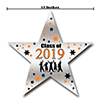 2019 GRADUATION ORANGE STAR DECORATION PARTY SUPPLIES