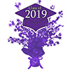 2019 GRADUATION PURPLE CENTERPIECE PARTY SUPPLIES