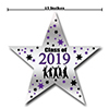 2019 GRADUATION PURPLE STAR DECORATION PARTY SUPPLIES