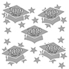 2019 GRADUATION SILVER DECO FETTI PARTY SUPPLIES