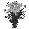2019 GRADUATION SILVER CENTERPIECE PARTY SUPPLIES