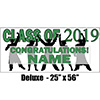 2019 GREEN GRADUATION DELUXE BANNER PARTY SUPPLIES