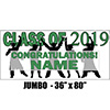 2019 GREEN GRADUATION JUMBO BANNER PARTY SUPPLIES