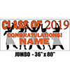 2019 ORANGE GRADUATION JUMBO BANNER PARTY SUPPLIES