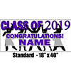 2019 PURPLE GRADUATION BANNER PARTY SUPPLIES