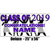 2019 PURPLE GRADUATION DELUXE BANNER PARTY SUPPLIES