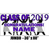 2019 PURPLE GRADUATION JUMBO BANNER PARTY SUPPLIES