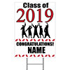 2019 GRADUATION RED YARD SIGN PARTY SUPPLIES