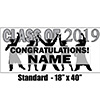 2019 SILVER GRADUATION BANNER PARTY SUPPLIES