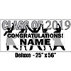 2019 SILVER GRADUATION DELUXE BANNER PARTY SUPPLIES