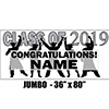 2019 SILVER GRADUATION JUMBO BANNER PARTY SUPPLIES