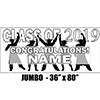 2019 WHITE GRADUATION JUMBO BANNER PARTY SUPPLIES
