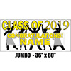 2019 YELLOW GRADUATION JUMBO BANNER PARTY SUPPLIES