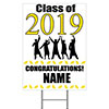 2019 GRADUATION YELLOW YARD SIGN PARTY SUPPLIES