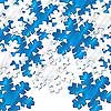 SILVER & BLUE SNOWFLAKE CONFETTI PARTY SUPPLIES