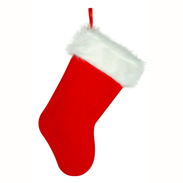 Click for larger picture of PLUSH CHRISTMAS STOCKING (12/CASE) PARTY SUPPLIES