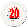 20TH BIRTHDAY DINNER PLATE 8-PKG PARTY SUPPLIES