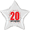 20TH BIRTHDAY STAR BALLOON PARTY SUPPLIES