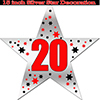 20TH SILVER STAR DECORATION PARTY SUPPLIES