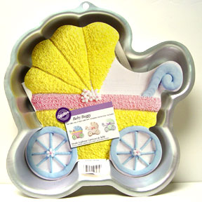 Click For Larger Picture Of BABY BUGGY CAKE PAN PARTY SUPPLIES